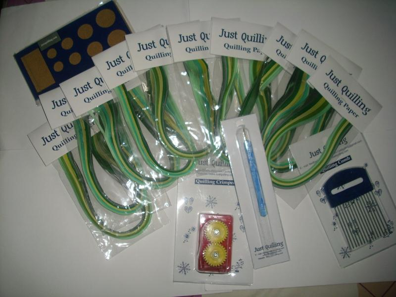 Shades of Green 4mm - 10 pks, crimper,comb,board & tool