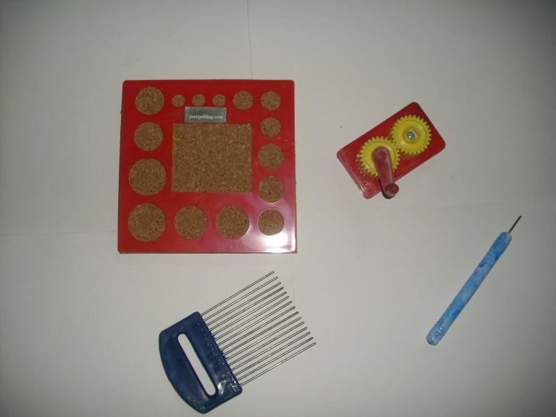 SQUARE BOARD RED,CRIMPER,COMB & TOOL.