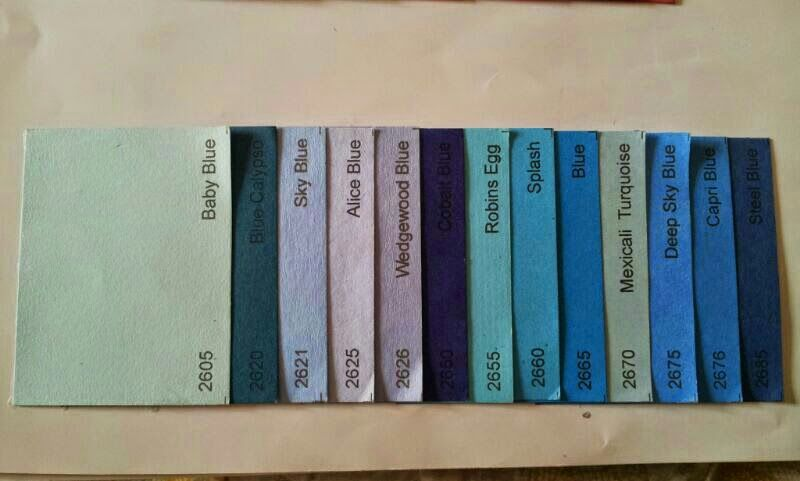 Blue Single color shades