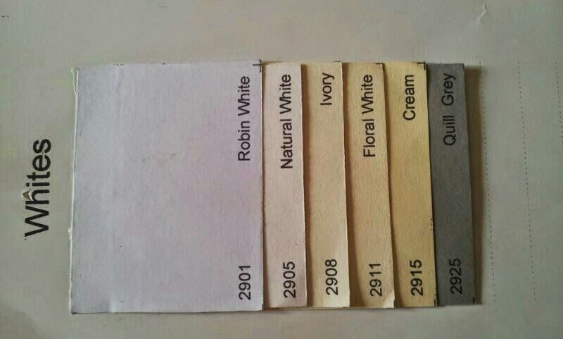 Whites Single color shades